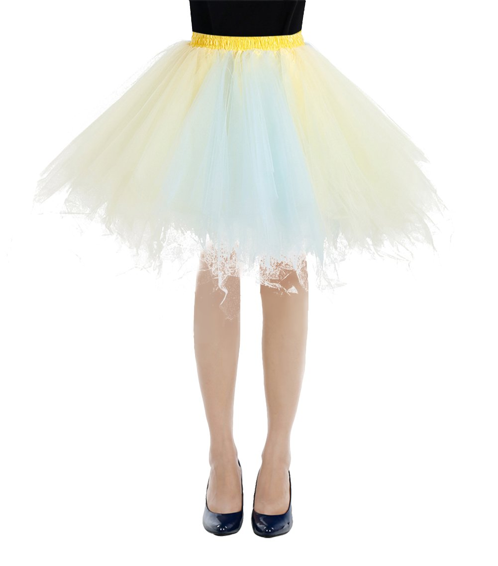 bbonlinedress Women's Short 1950s Vintage Tutu Petticoat Ballet Bubble Skirt