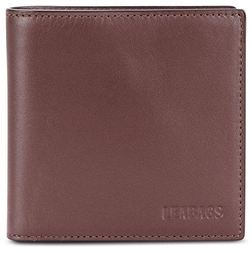 (LEABAGS Virginia genuine calfskin leather wallet in vintage style - Brown)
