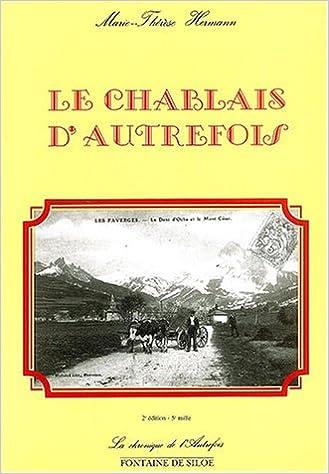 Livre gratuits en ligne Le Chablais d'autrefois epub pdf