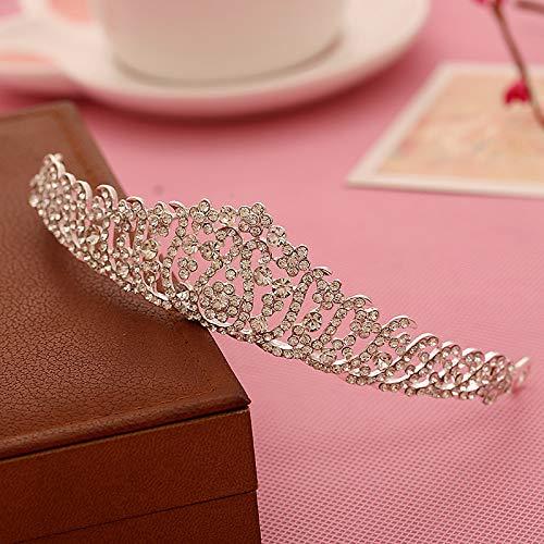 Alloy Crystal Bridal Jewelry Plum Hair Wave Hair Accessories Wholesale Alloy Rhinestone Crown Tiara Wholesale]()