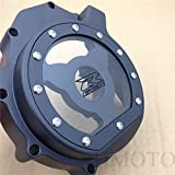 HK MOTO- Billet Engine Stator cover see through Suzuki 2005-2008 GSXR1000 Black left side BLACK