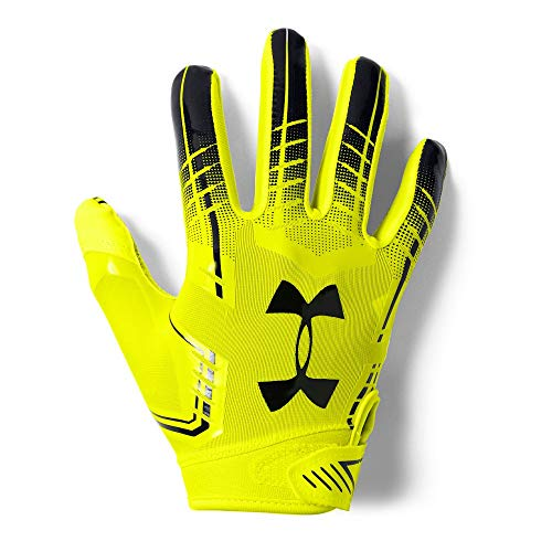 Under Armour Boys F6 Youth Football Gloves High Vis Yellow 731
