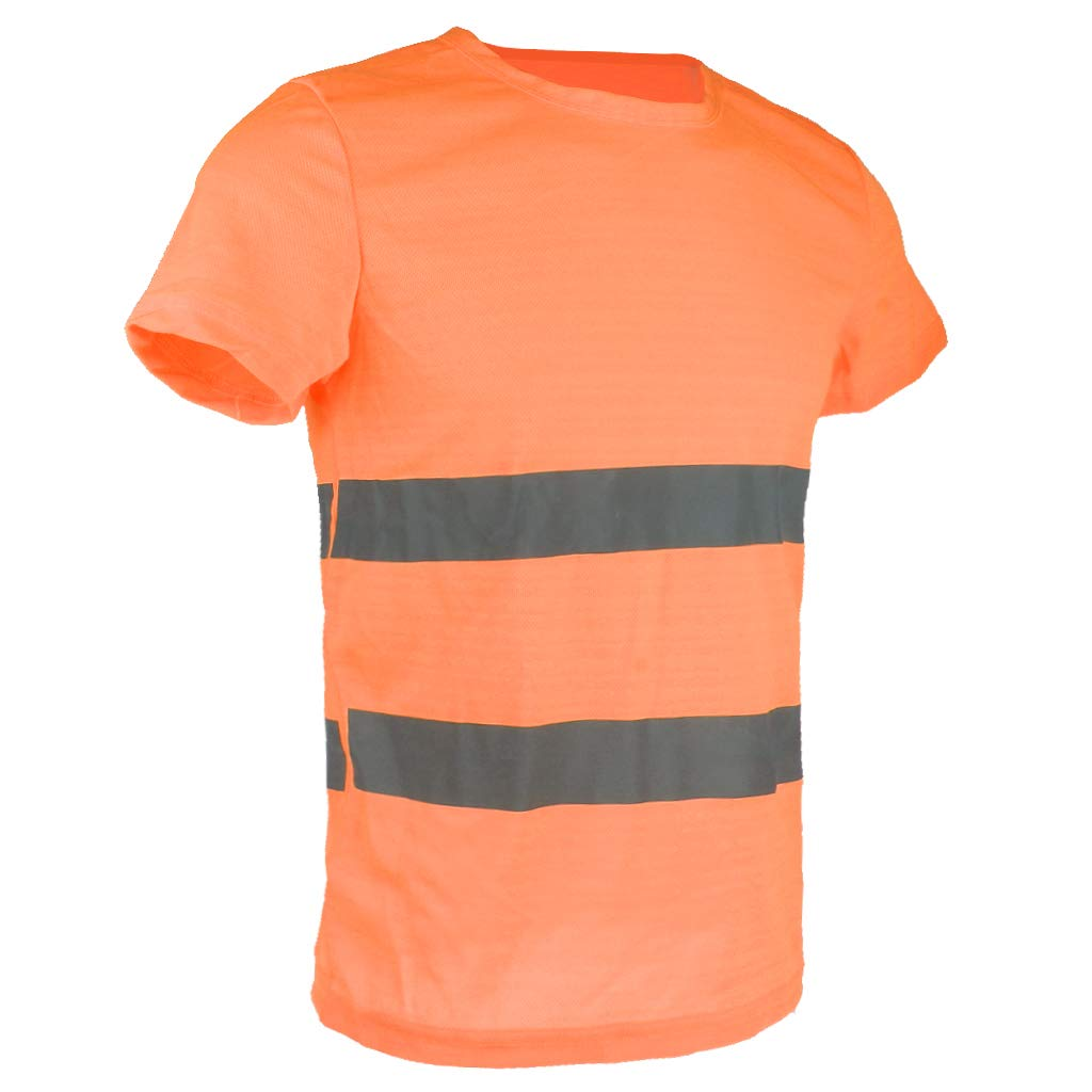 Giallo L SM SunniMix Maglietta Riflettente Maniche Corte Abbigliamenti Indumenti Vestiti Tuta per Ragazzo