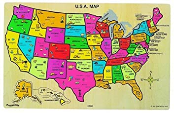 Amazoncom Ryans Room USA Map Puzzle Toys Games - Picture of usa map
