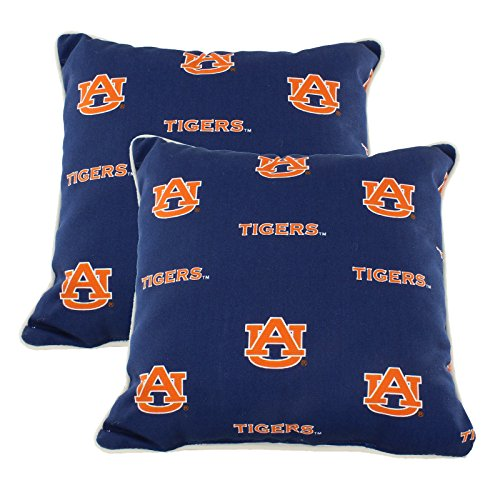 Auburn Tigers Throw Pillow - College Covers AUBODPPR Auburn Tigers Outdoor Decorative Pillow Pair, 16