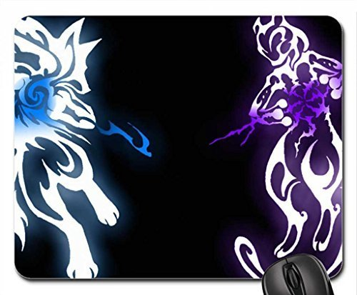 1 X Lucario vs. Mewtwo Mouse Pad, Mousepad (10.2 x 8.3 x 0.12 inches)
