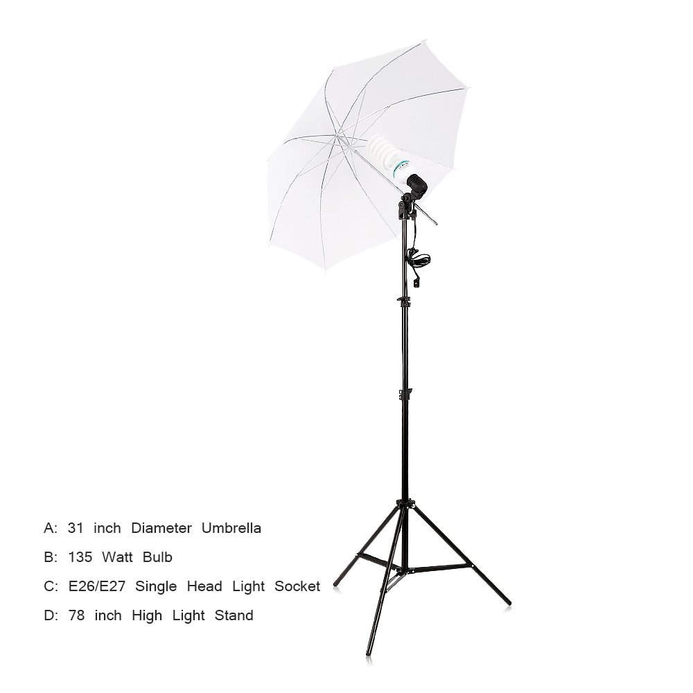 Professional Quality Speedlite Swivel Flash Mount with Umbrella Bracket Light Stand by TRUMAGINE