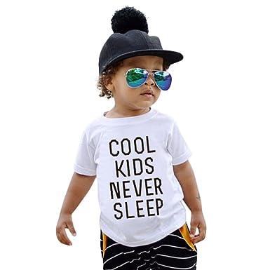 543e60c693620 Vêtements Fille Ete Oyedens T-Shirt Enfant Unisexe Fille & Garçon de 2 à 6