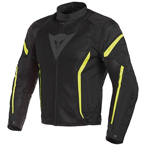 Dainese Air Crono 2 Textile Jacket (62) (Black/Black/Fluorescent Yellow)