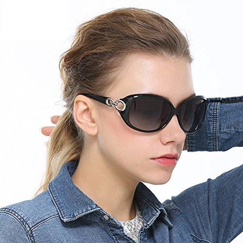 Sol Sol de Gafas Red Gafas Gafas MY Sol de Gafas Moda de Redondas de Gran Tamaño Champagne Color Gafas Sol Gafas de de Sol de R4qqvw