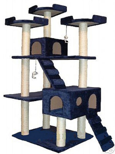 Go Pet Club Cat Tree - 72 in Blue