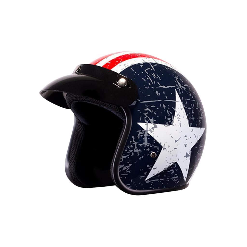 ヘルメット オートバイのヘルメット、レトロオートサイクルヘルメット四季男性女性オールラウンドサイクリングヘルメットモト電気自動車ハーフヘルメット  A B07Q1WBZ1B