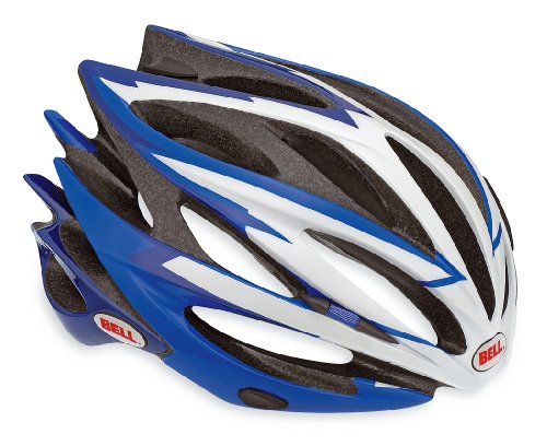 (Bell Sweep Racing Bicycle Helmet, Blue/White, Small)