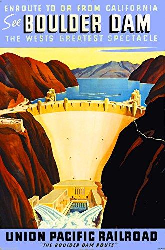 Boulder Nevada Dam - MAGNET See Boulder Hoover Dam Nevada Vintage United States Travel Advertisement Magnet