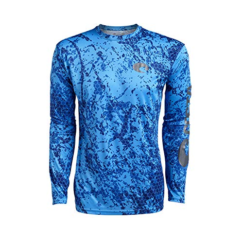 Costa Del Mar Technical Hexo Camo LS Lycra Blue ()
