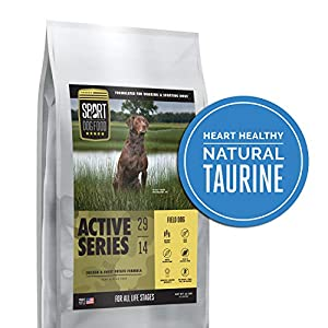 Active Series Field Dog Chicken Formula, Peas and Flax Free Dry Dog Food, 30 lb. bag 15