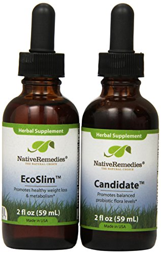 Native Remedies Candidate and EcoSlim ComboPack for effective weight loss and treatment of Candida and yeast infections