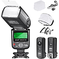 Neewer VK750 II i-TTL Flash for Nikon DSLR Camera Such as D7200 D7100 D7000 D5300 D5200, Includes: VK750 II Flash, 2.4G Wireless Trigger, Hard and Soft Flash Diffuser, Lens Cap Holder,N1/N3 Cable