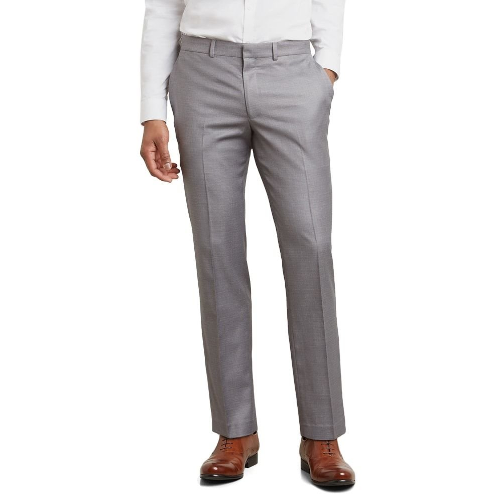 Kenneth Cole REACTION Men's Techni-Cole Stretch Slim Fit Suit Separate (Blazer, Pant, and Vest), Light Grey Basketweave Pant, 32W x 32L by Kenneth Cole REACTION