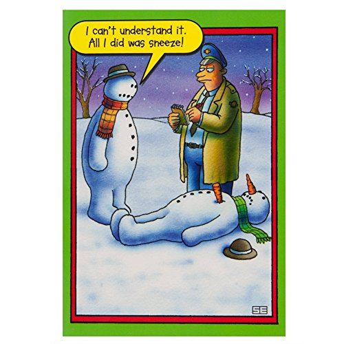 Old Glory - Snowman Sneeze Christmas Card (Old Glory Stationery)