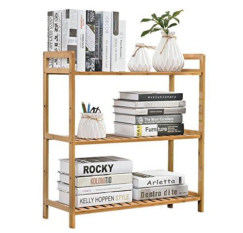 Utility Shelf Shelving Unit Adjustable Display Rack Multifunctional Storage organizer Shelves freestanding Bathroom Kitchen Living Room Holder ()