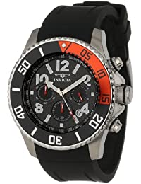 "Invicta Men's 13727""Pro Diver"" Stainless Steel Watch with Black Band"