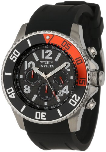 Invicta Men 13727 quotPro Diverquot Stainless Steel Watch with Black Band
