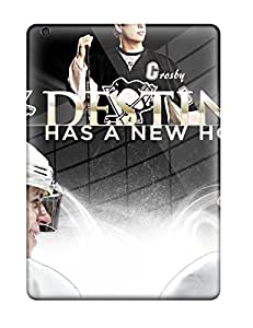 Durable Defender Case For Ipad Air Tpu Cover(pittsburgh Penguins (43) )