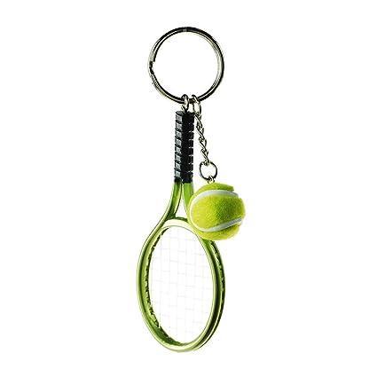 Billty Llavero de Raqueta de Tenis Pompón Llavero teléfono ...