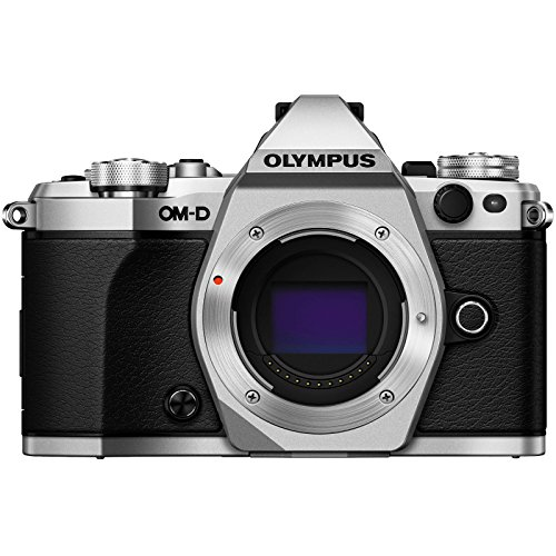 Olympus OM-D E-M5 Mark II Micro 4/3 Digital Camera Body (Silver) with 14-42mm EZ Lens + 32GB Card + Case + Battery/Charger + Filter + Kit