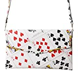 Clutch purse using play cards - FREE SHIPPING - upcycled eco friendly vegan recycled reclaimed salvaged handmade unique gift wallet evening wedding slim shoulder las vegas bag poker solitaire player