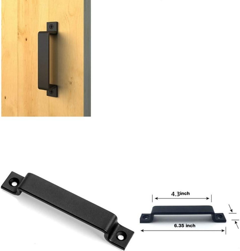 Scheune T/ürgriff einschlie/ßlich Schrauben ziehen Schiebet/ür Edelstahl schwarzem Stahl schwarz massiver Stahlt/ürgriff