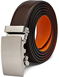 """Genuine Leather Dress Belt (1 1/4"""" wide) with Solid Automatic Buckle"""
