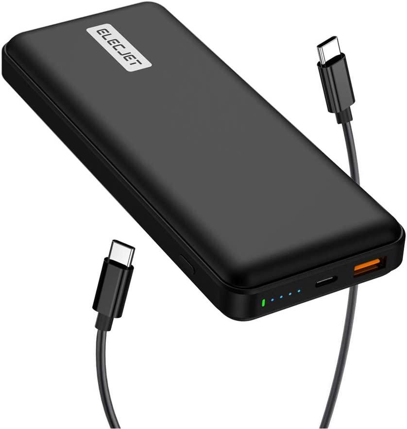 ELECJET PowerPie 20000mAh Power Bank, for Samsung Galaxy Note10+/S20 Ultra, Support 45W Fast Charging, USB-C PD 3.0 Portable Battery Pack, for Dell XPS, MacBook Pro/Air, iPad Pro, iPhone