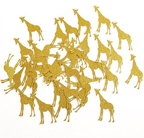 Giraffe Table Confetti for Baby Shower/Child Kids Birthday Animal Party Decorations Favors Supplies 50pcs/lot