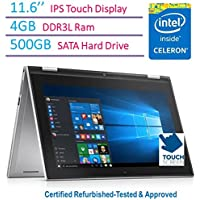 "Dell Inspiron i3000 11.6"" IPS Touchscreen 2-in-1 Convertible Laptop/Tablet PC 