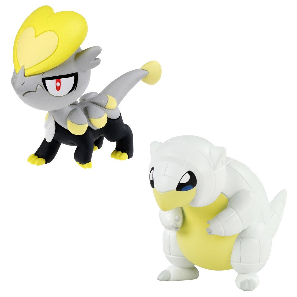 Pokemon T19034Alolan Sandshrew VS Jangmmo-o Figure