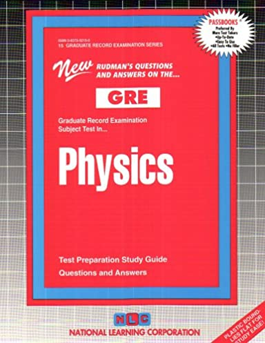 physics graduate record examination series passbooks graduate rh amazon com Glencoe Physics Study Guide AP Physics Study Guide