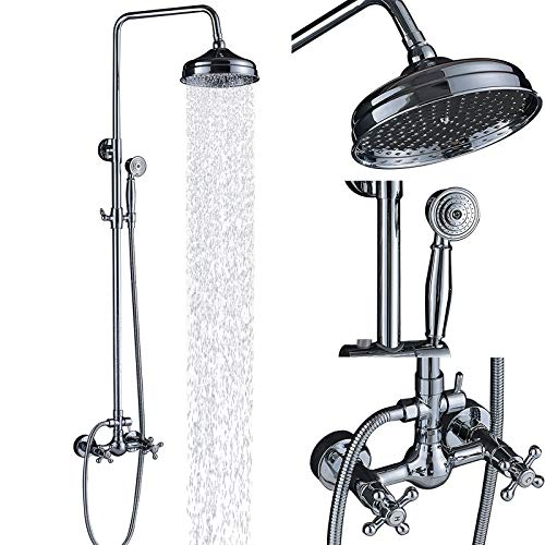 Shower Faucet Cross - Senlesen Chrome Wall Mounted Bathroom 8