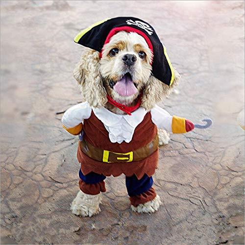 Yevison Dog Pirate Suit Halloween Costume Pet Costume