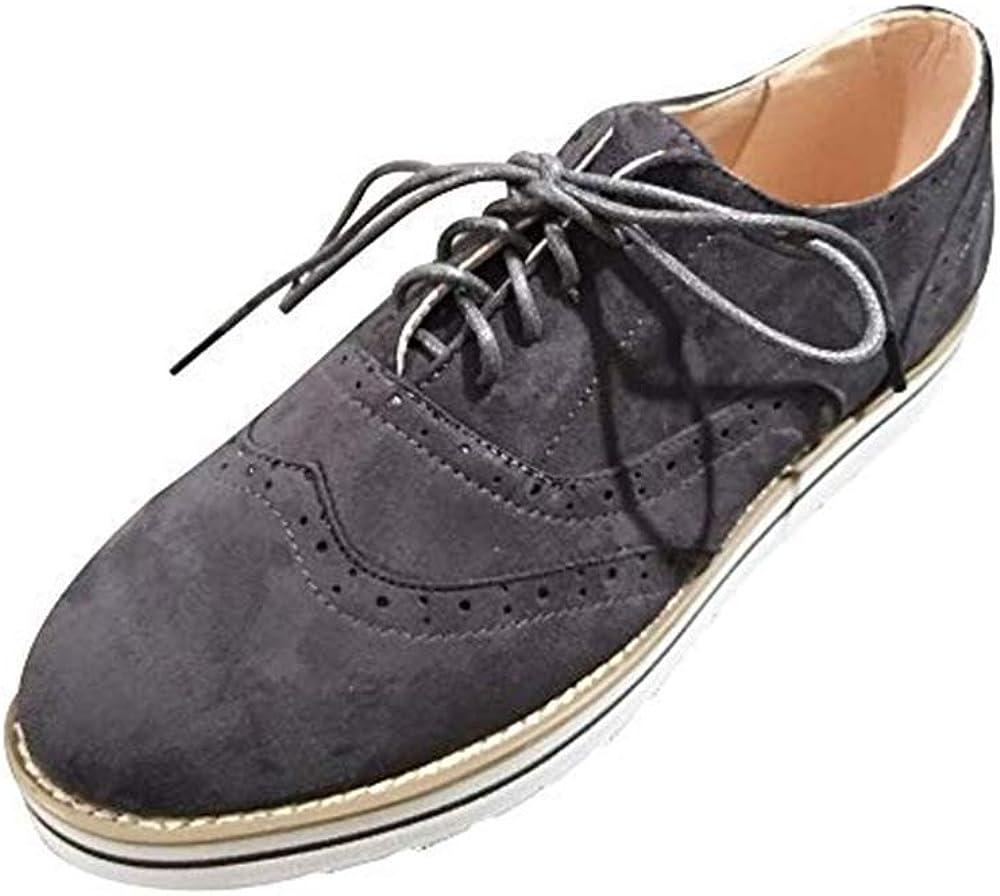 Dtuta Baskets Flock Pour Femme Solid Toe Ronde En Daim Couleur Unie Pour Femmes Flatties Lace Up Shoes