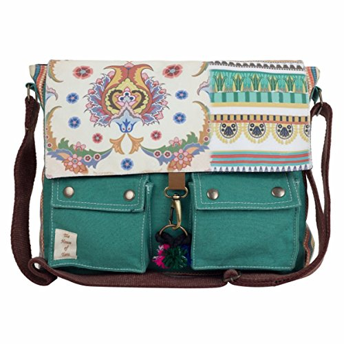 The House of tara Girls' Printed Canvas Messenger Bag 15″X12″X3″ (W X H X D) Multicolour