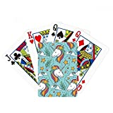beatChong Rainbow Leaves Stars Cloud Unicorns Poker Playing Card Tabletop Board Game Gift