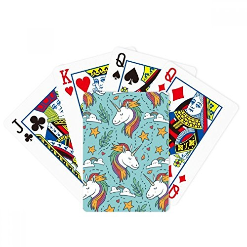 beatChong Rainbow Leaves Stars Cloud Unicorns Poker Playing Card Tabletop Board Game Gift by beatChong