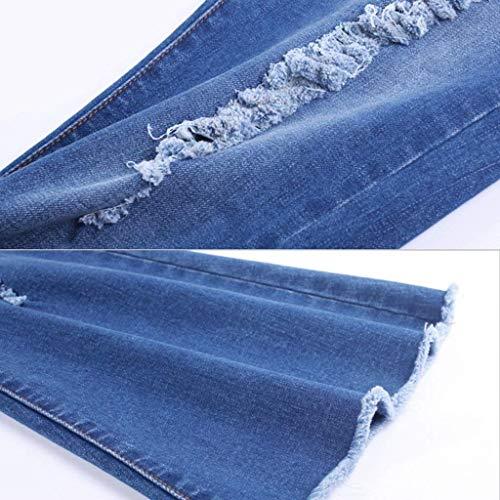Tromba Mode Bolawoo 32 Larghi Alta colore Marca Pelosi Jeans Taglia Pantaloni Vita Blu Donna A Di 15rxwBzAq5