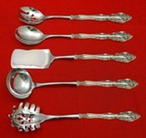 Michelangelo By Oneida Sterling Silver Hostess Serving Set HHWS 5pc Custom