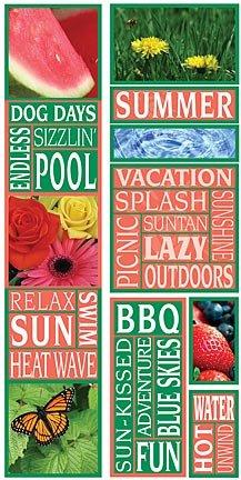 Summer Photo Banner Cardstock Scrapbook Stickers (Cloud 9 Design Photo Banner)