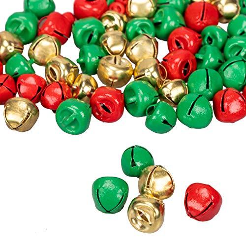 90shine 200PCS Christmas Jingle Bells Party Supplies - Xmas Decorations Craft Activity Decor