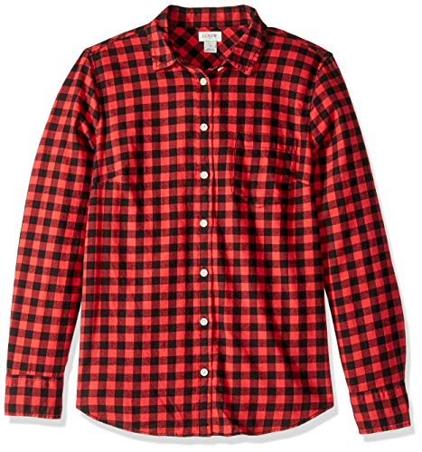J.Crew Mercantile Women's Long-Sleeve Flannel Shirt,, used for sale  Delivered anywhere in USA