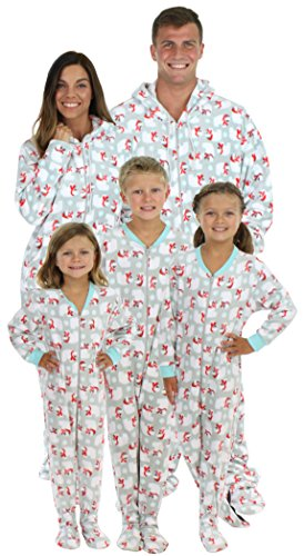 3938fd0e0c2 SleepytimePjs Family Matching Polar Bears Onesie PJs Footed Pajamas ...